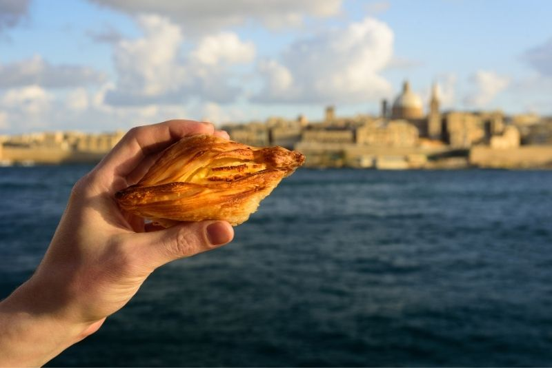 pastizzis food tour in Malta