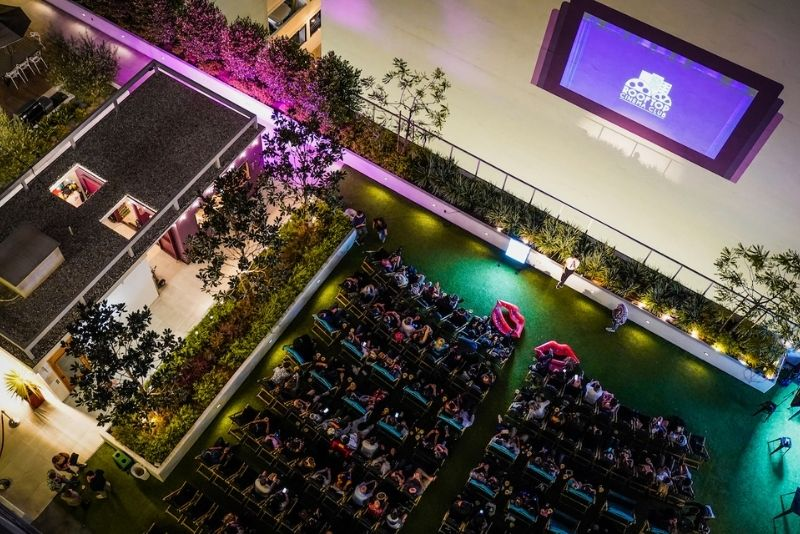rooftop cinema in Los Angeles