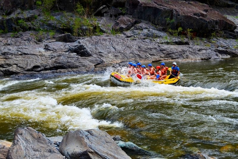 white-water rafting on the Barron River