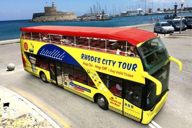 Rhodes hop-on hop-off bus tour
