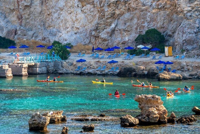 Rhodes kayaking