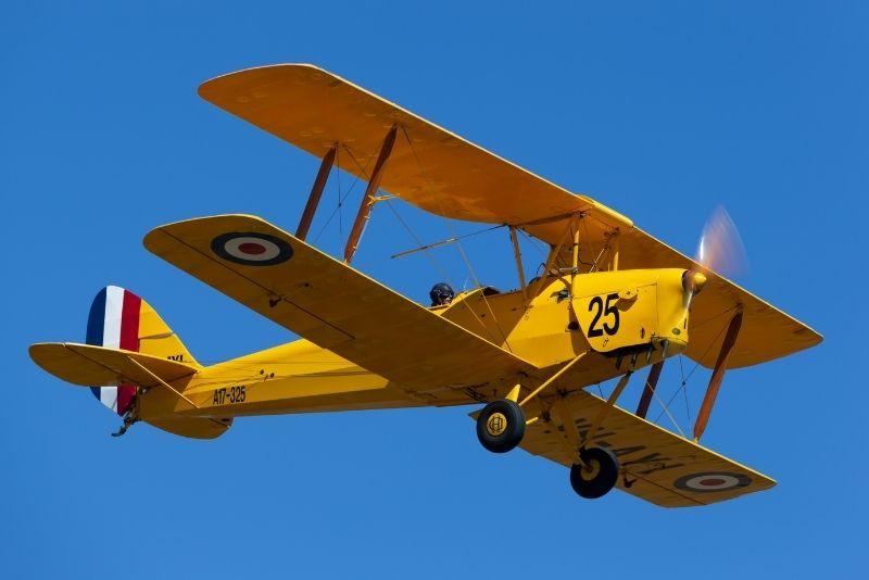 Tiger Moth flight in Perth