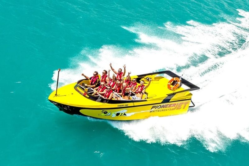 jet boat in Airlie Beach