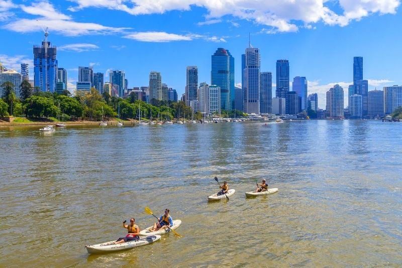 kayak tour of Brisbane