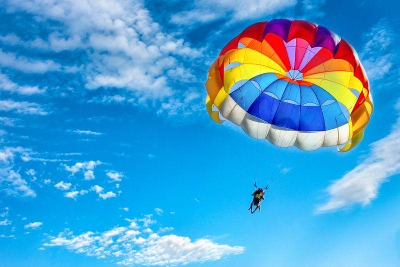 parasailing over the Gold Coast