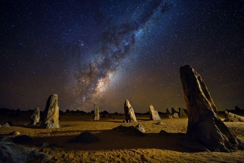 stargazing in Pinnacles Desert