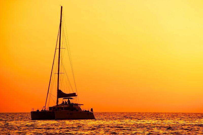 sunset sailing in Gold Coast
