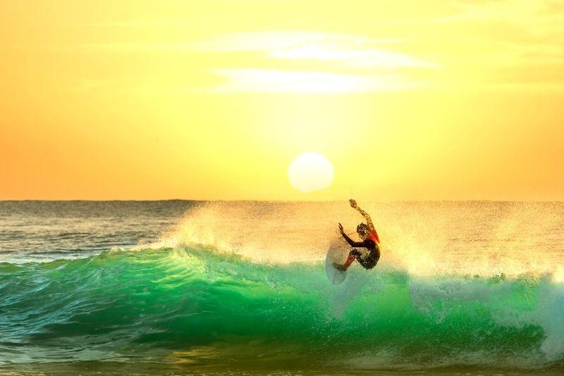 surfing in Brisbane