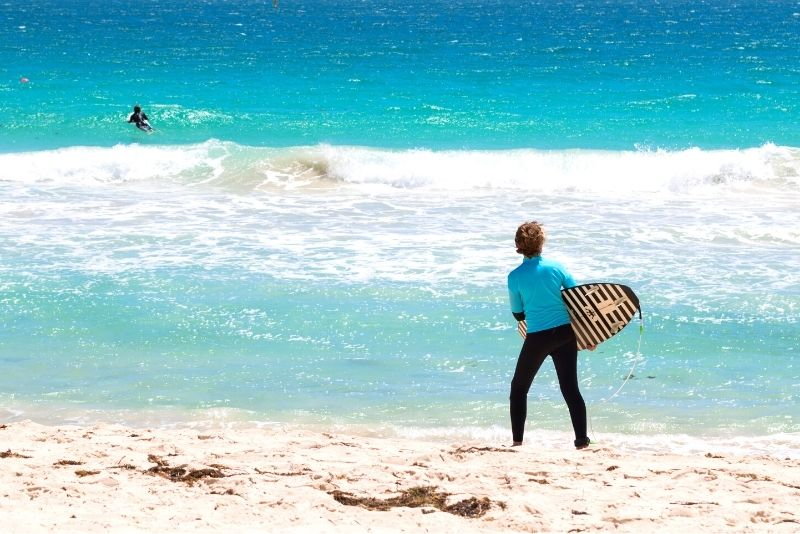 surfing in Perth