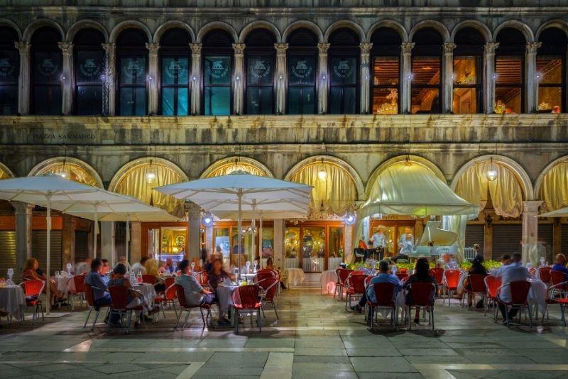 Caffè Quadri in St. Mark's Square, Venice