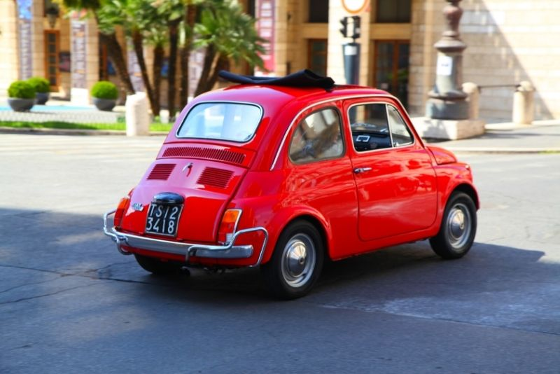 Fiat 500 tour in Rome