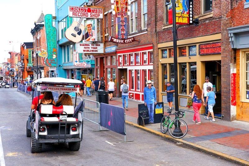 Nashville golf cart tour