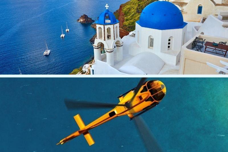 Santorini mit dem Hubschrauber
