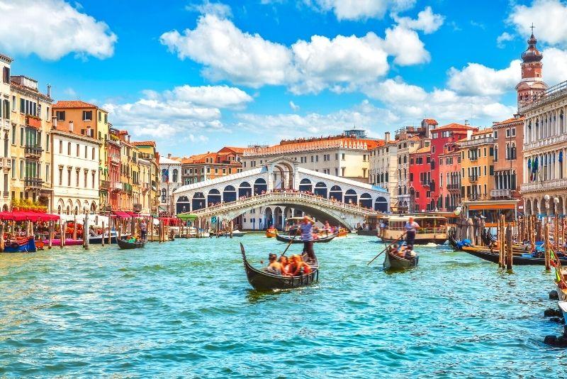 Il Canal Grande e il ponte di Rialto, Venezia