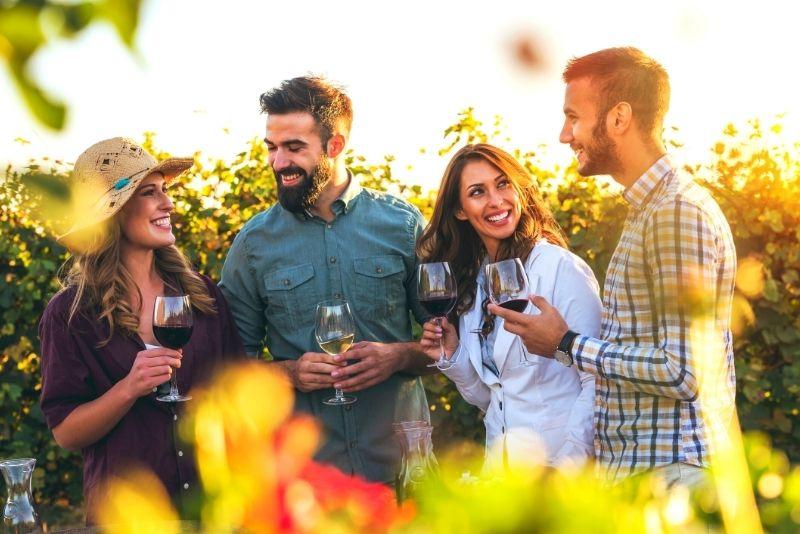 Weinprobe in der Toskana