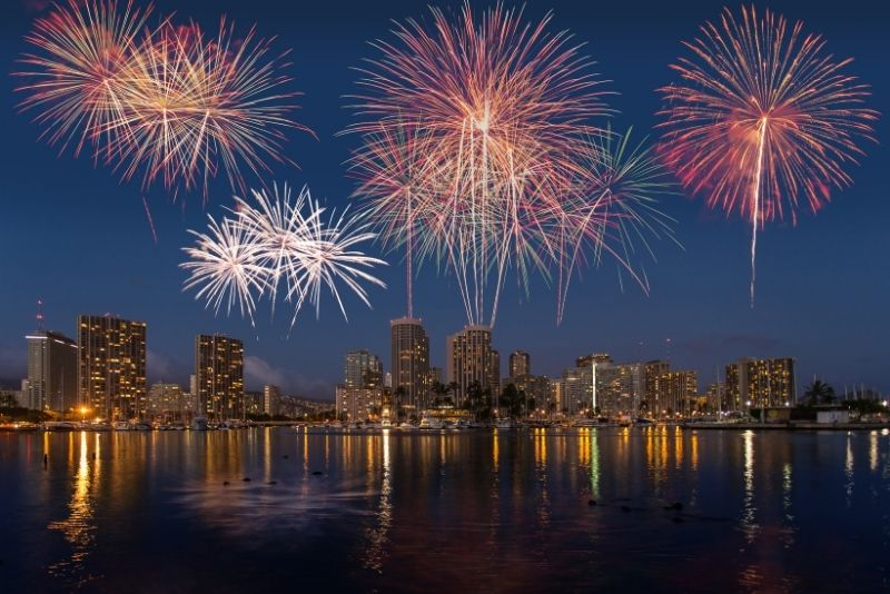 Waikīkī Beach Friday night fireworks