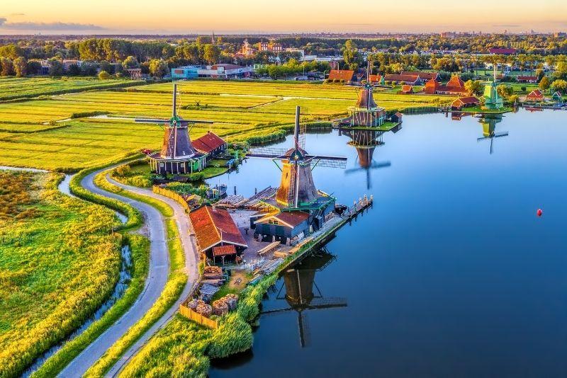 Molinos de viento de Zaanse Schans, Países Bajos