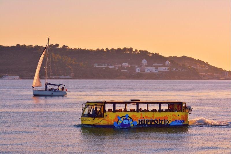 amphibious sightseeing tour in Lisbon