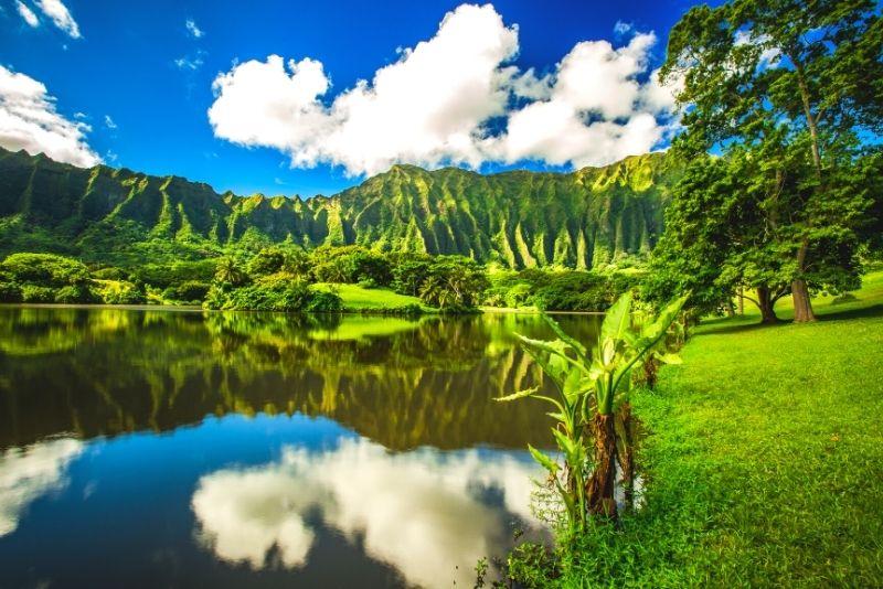 botanical gardens in Oahu, Hawaii