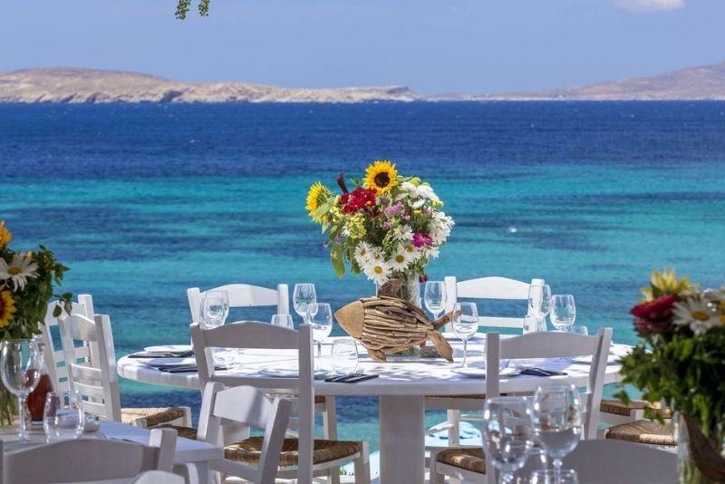 Essen mit Aussicht, Hippofish Restaurant, Mykonos