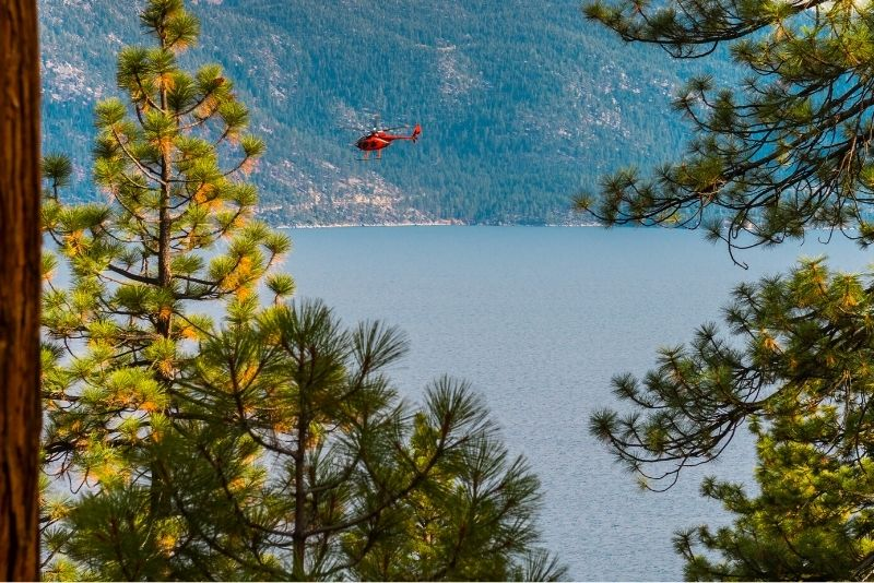 helicopter tour in Lake Tahoe
