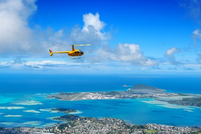 helicopter tour in Oahu