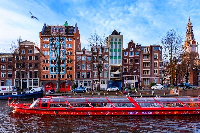 Tour en barco con paradas libres en Ámsterdam