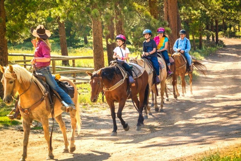 horse riding in Lake Tahoe