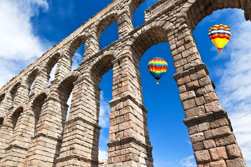 Fahrt mit dem Heißluftballon durch Madrid