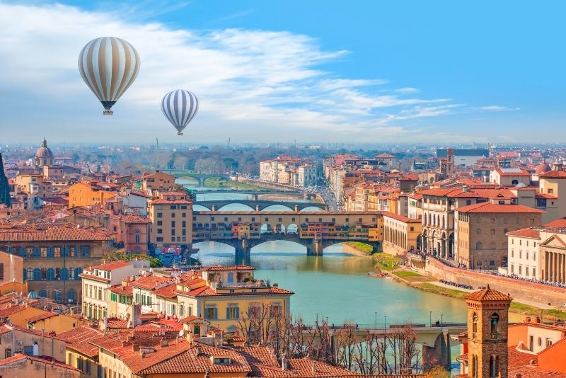 hot-air balloon ride in Florence