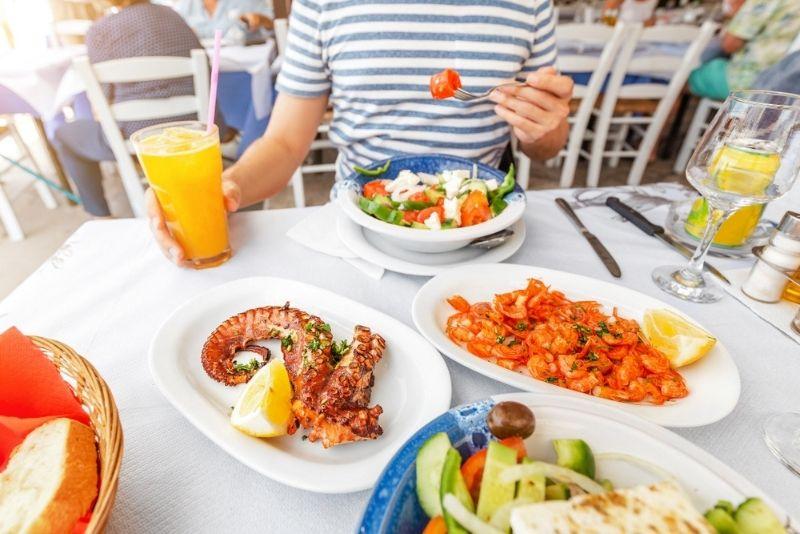 lokales Essen Mykonos