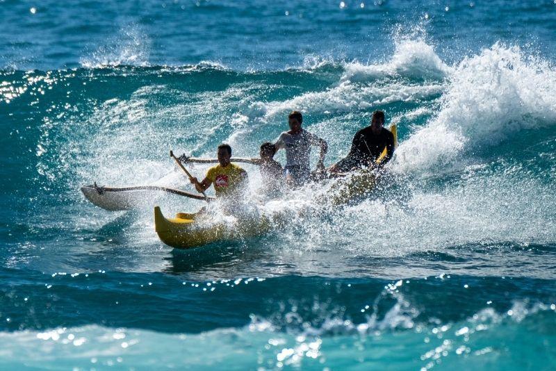 outrigger canoe in Oahu