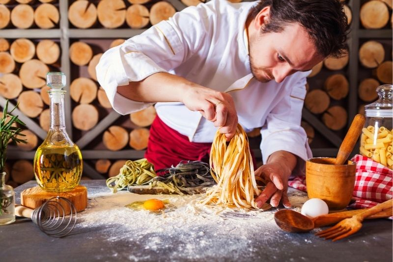 pasta cooking class in Rome