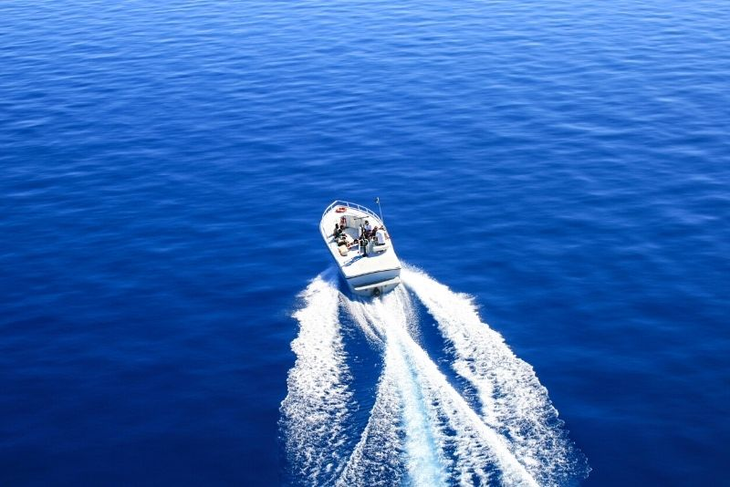 private boat at Emerald Bay