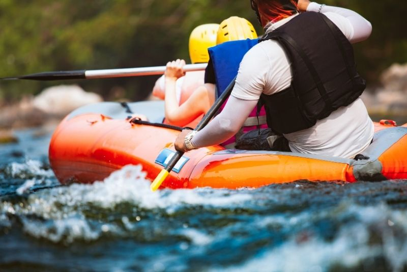 rafting along the Truckee River
