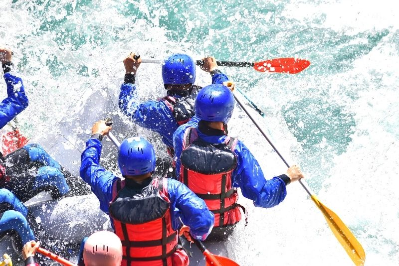 rafting in the Marmore Falls