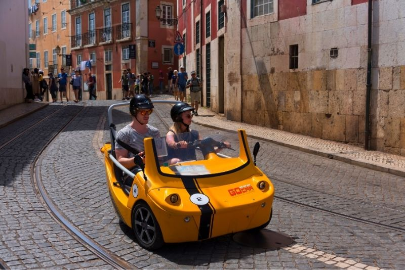 self-guided electric car tour in Lisbon