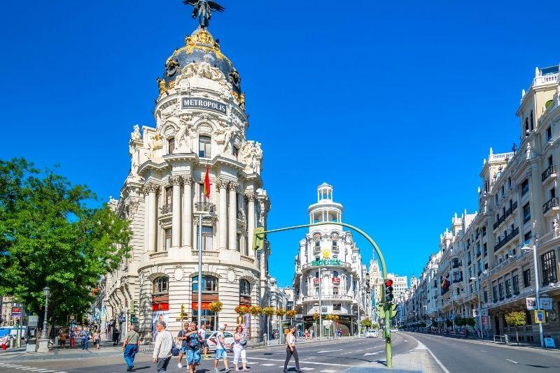 Einkaufen in der Gran Via, Madrid