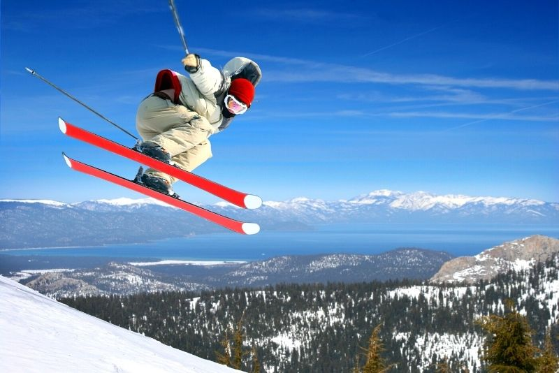 ski at the Squaw Valley Resort, Lake Tahoe