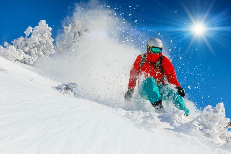 skiing at Sugar Bowl Resort, Lake Tahoe