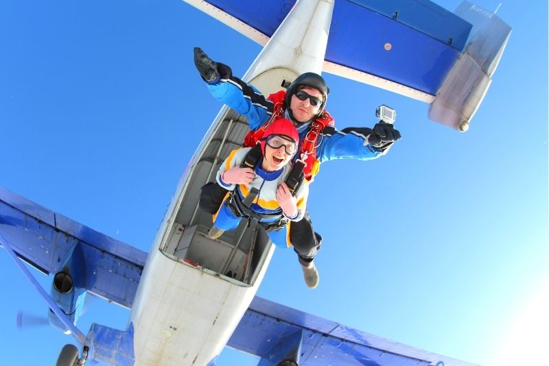 skydiving in Florence