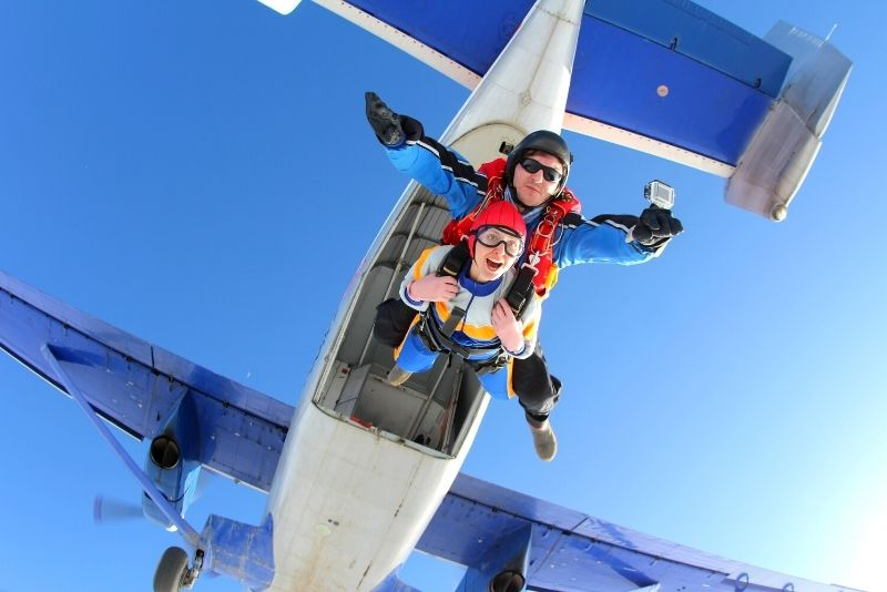 skydiving in Grand Canyon