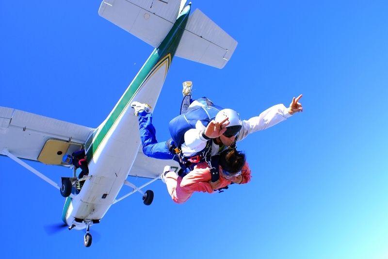 Fallschirmspringen in Madrid