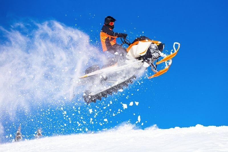 snowmobile tour in Lake Tahoe