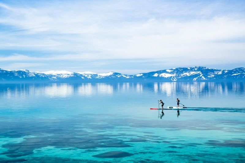 stand-up paddle in Lake Tahoe