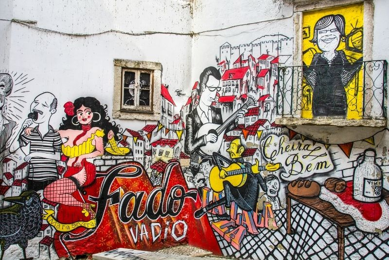 Straßenkunst in Lissabon