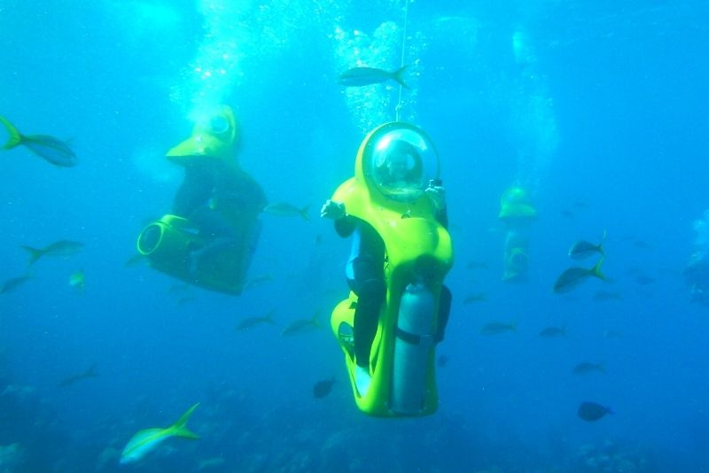 submarine scooter ddventure in Oahu