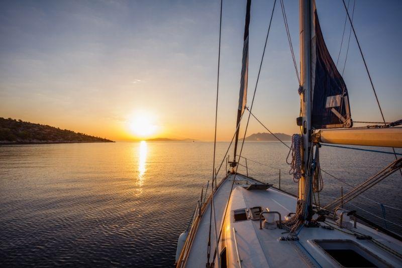 Sonnenuntergang Segelkreuzfahrt Mykonos