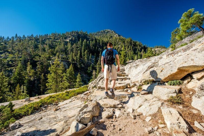 trekking in Tahoe National Forest
