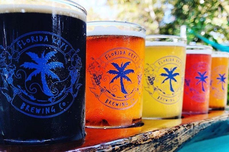 Florida Keys Brewing, beer tasting in Key Largo